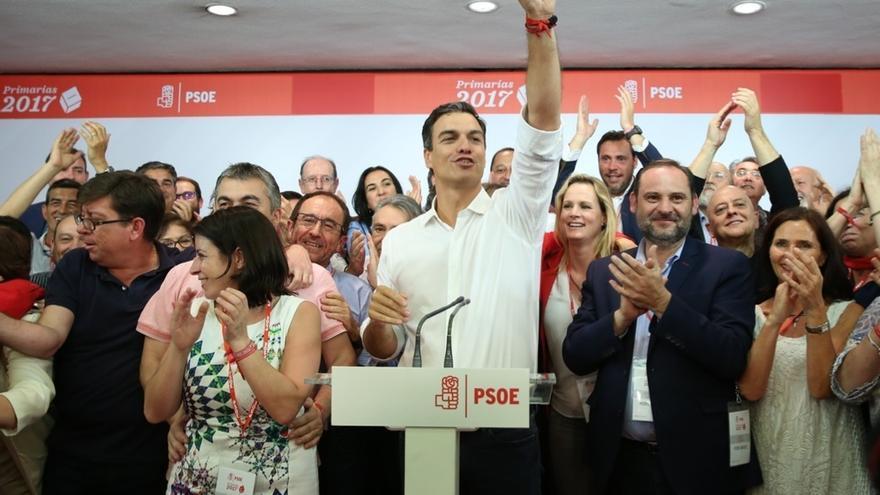 """Pedro Sánchez se compromete a construir el """"nuevo PSOE de los militantes"""" con unidad"""