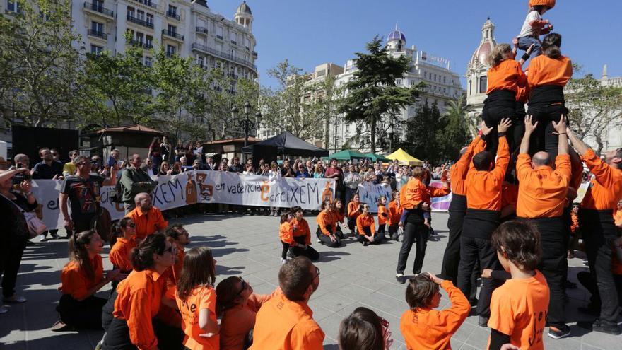 La plaça de l'Ajuntament, escenario de la Trobada d'Escoles en Valencià 2017