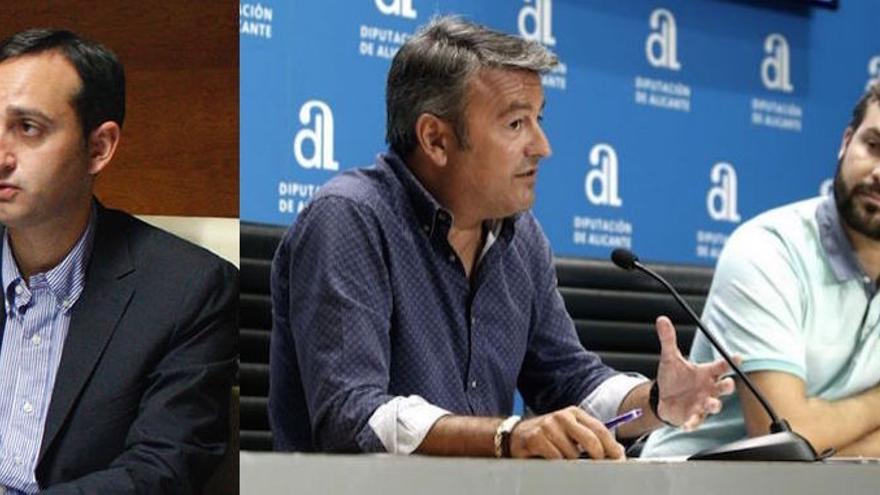 César Sánchez, José Chulvi y Gerard Fullana.