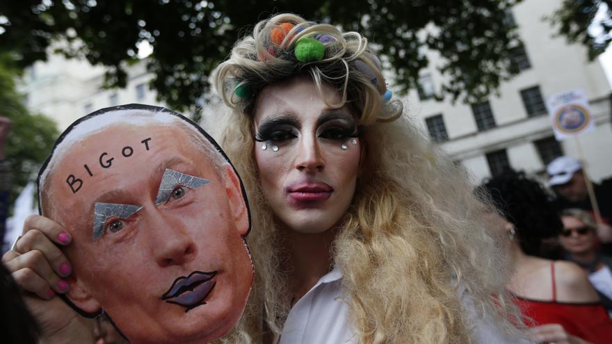 Esta es una de las imágenes de Vladimir Putin que ha prohibido el Gobierno ruso