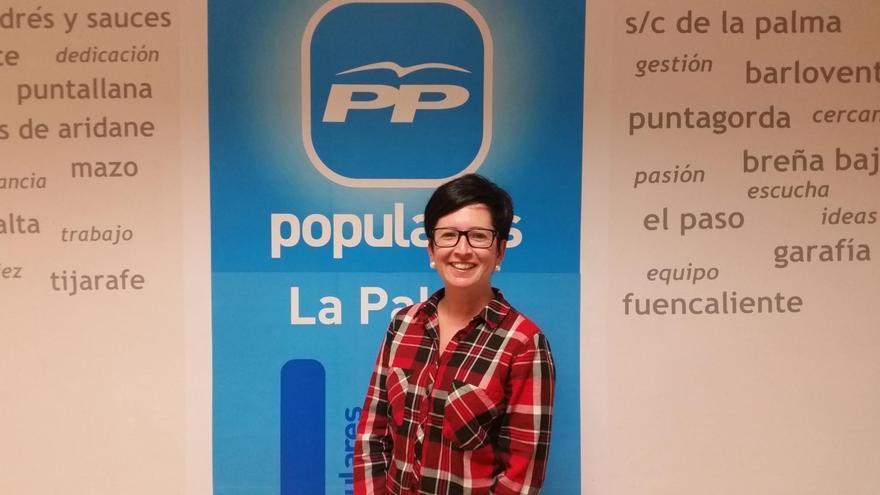 Dácil Pérez, concejal del PP en el Ayuntamiento de Tijarafe.
