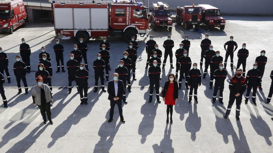 Participantes en el curso de ingreso básico de bomberos