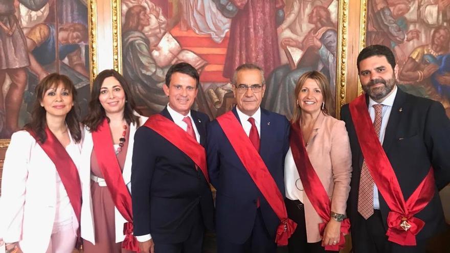 El grupo municipal Barcelona pel Canvi-Ciudadanos, el día de la investidura