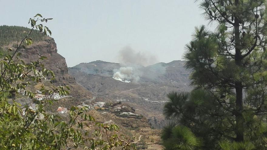 Imagen publicada por el Cabildo de Gran Canaria en Twitter para anunciar el pasado miércoles el inicio del incendio.