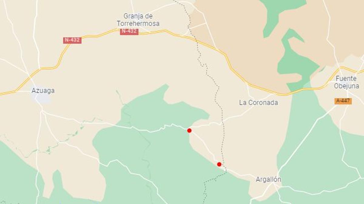 Entre puntos rojos, la carretera en la que ha sido el accidente
