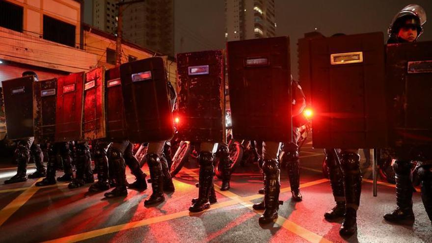 Nuevos disturbios en manifestaciones contra el Gobierno Temer en Sao Paulo