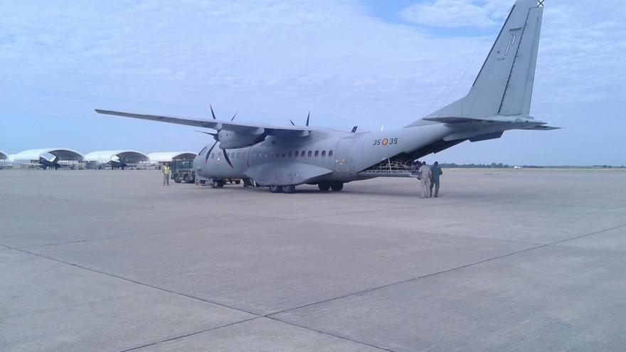 Aeropuerto de Morón de la Frontera, desde donde partió el Segundo Batallón de la UME.