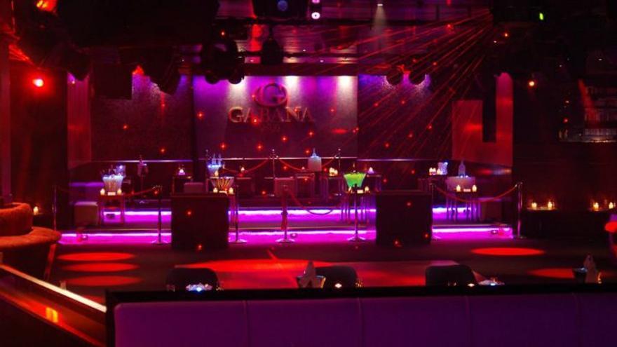 Imagen de la discoteca Gabana, en Madrid, ya cerrada.