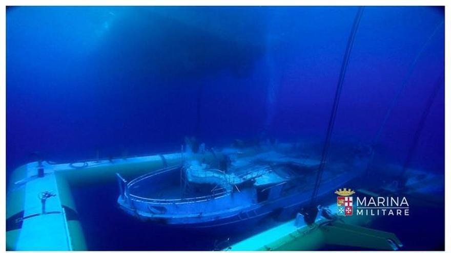 Italia recupera una nave hundida en uno de los mayores naufragios del Mediterráneo
