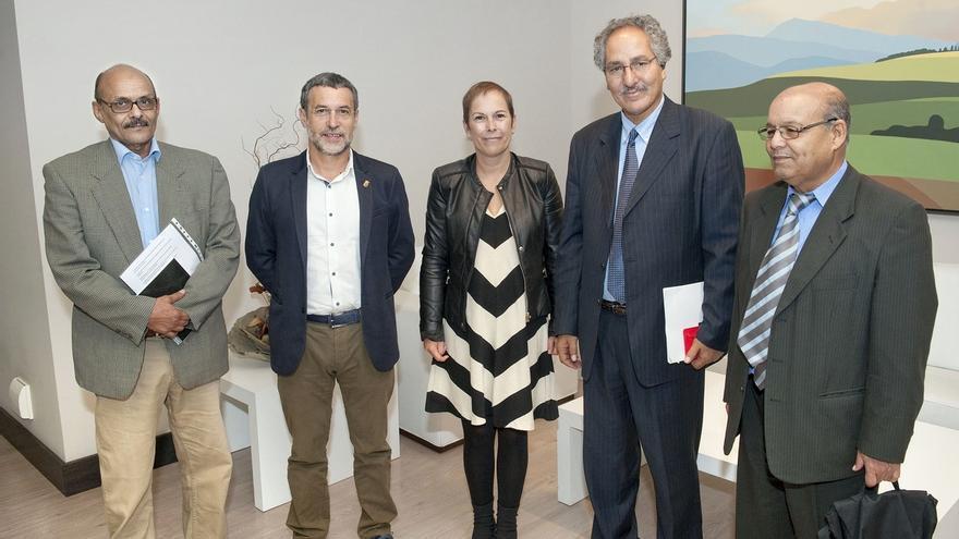 Barkos y Laparra reciben al nuevo ministro saharaui para la cooperación