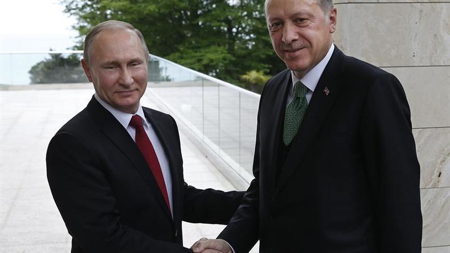 Putin se reúne con Erdogan en Ankara para hablar de Irak y Siria