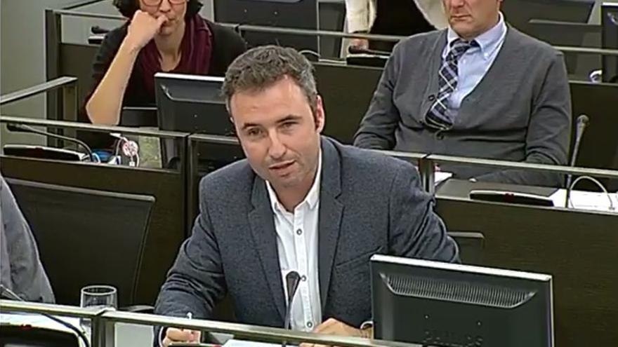 El diputado de Ciudadanos Guillermo Díaz durante su intervención en la Comisión de Cultura en el Congreso