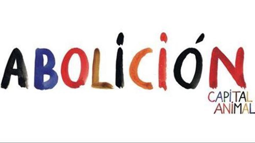 Pancarta con la que Capital Animal participará en la manifestación 'Tauromaquia es violencia', diseñada por Paco Catalán