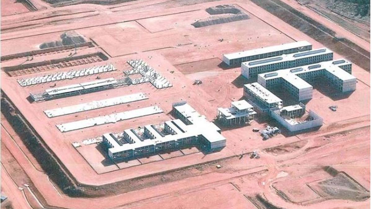 Vista área de las obras de la prisión de Siete Aguas que Interior quiere reconvertir en un hospital psiquiátrico penitenciario.