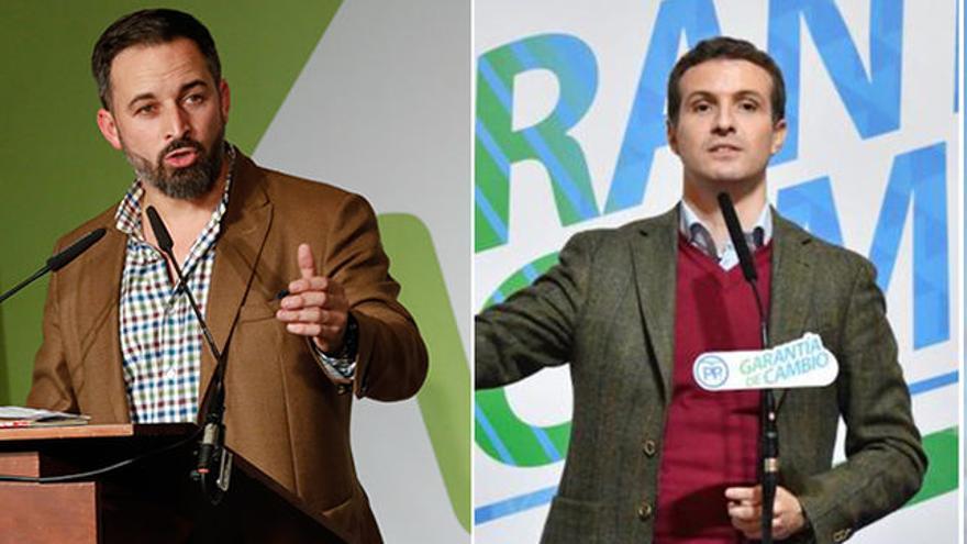 Santiago Abascal y Pablo Casado