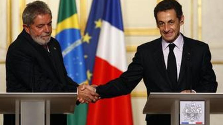 Sarkozy y Lula