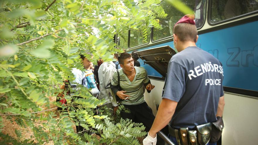 Nos hacinaron en unos autobuses que nos llevaron a la frontera con Serbia. Toda la región estaba llena de refugiados. / Foto: Jure Eržen.