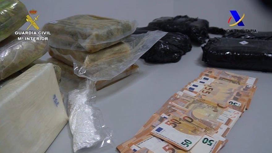 18 kilos de cocaína intervenidos por la Guardia Civil y la Agencia Tributaria.