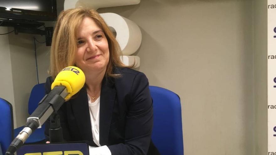 La diputada del PSOE Pilar Cancela en una entrevista a la Cadena Ser.