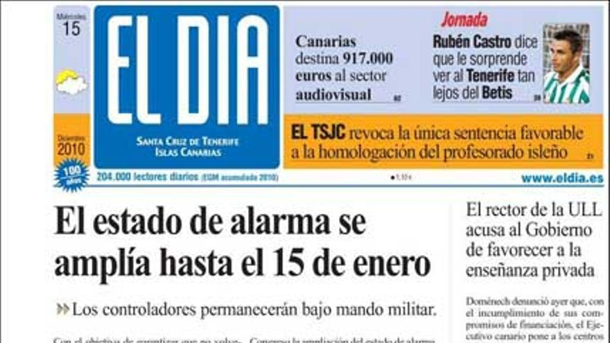 De las portadas del día (15/12/2010) #5