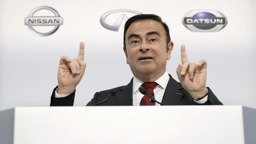 """Ghosn dice que la mayor cuota francesa en Renault """"no afecta"""" a la alianza con Nissan"""
