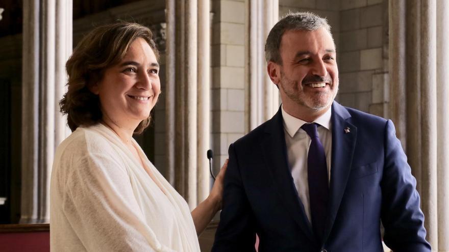 Ada Colau y Jaume Collboni cierran su acuerdo en Barcelona