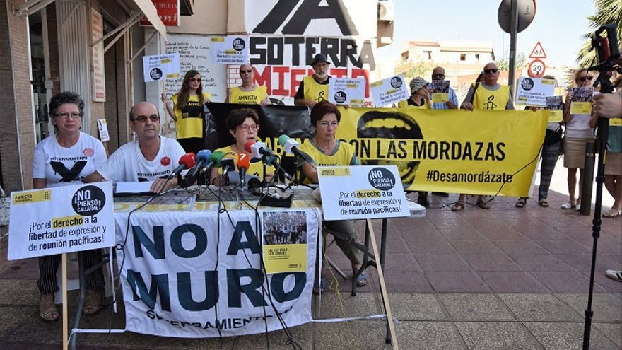 Aministía Internacional critica el uso de la 'Ley Mordaza' contra la Plataforma Pro Soterramiento