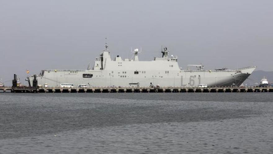 El portaaviones Juan Carlos I, buque insignia de la Armada española