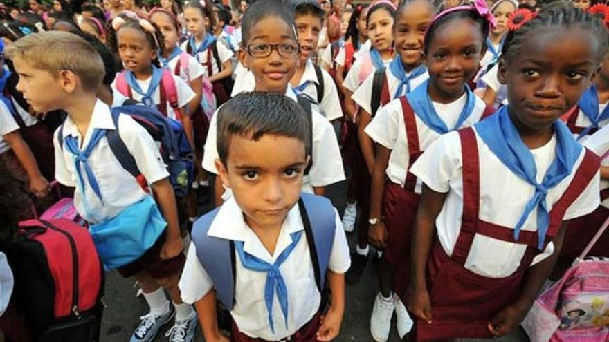 El analfabetismo en Cuba en 2011 era del 0,2%, frente al 1,8% de España en ese mismo año. (EFE).