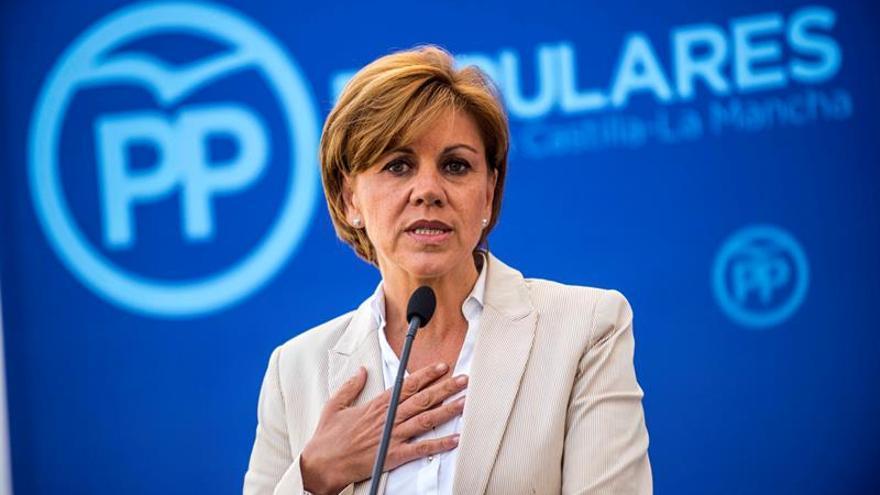 Cospedal, convencida de que España tendrá un gobierno moderado y razonable