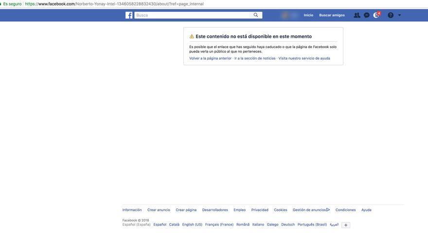 Perfil de Facebook de Jonay Pérez tras la llamada a Samuel Yebra