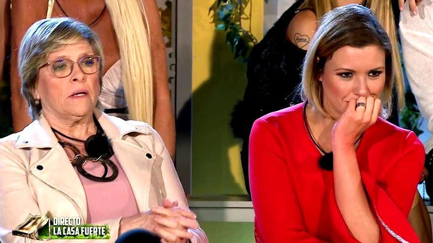 María Jesús Ruiz y su madre Juani Garzón en 'La casa fuerte'