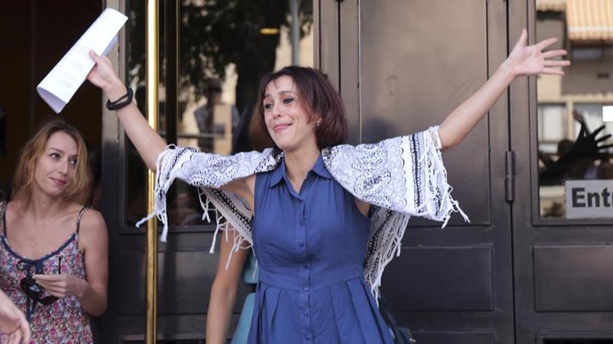 Juana Rivas a la salida del juzgado / EFE