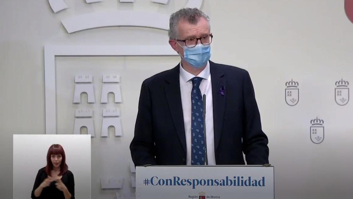 El consejero de Salud de Murcia, Juan José Pedreño