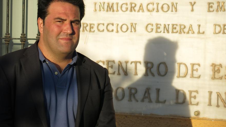 El diputado por Amaiur, Jon Iñarritu, en su última visita a Melilla.   Imagen cedida