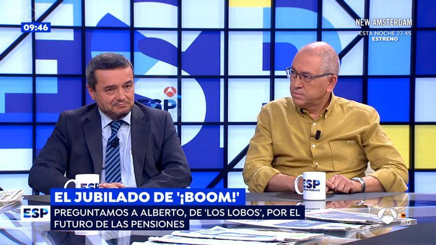 Alberto San Frutos de 'Los Lobos', reaparece en Antena 3  para hablar de los pensionistas