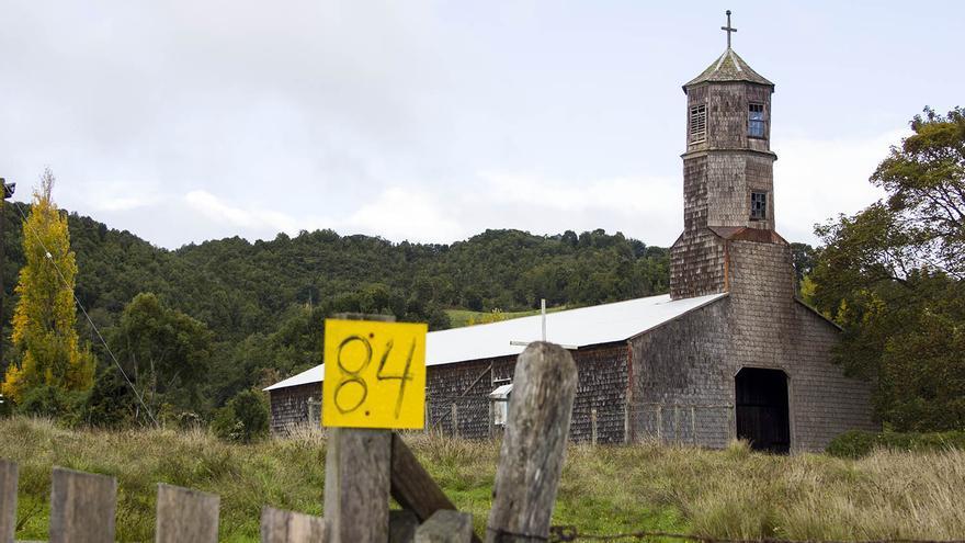 Iglesia en la isla de Quinchao.