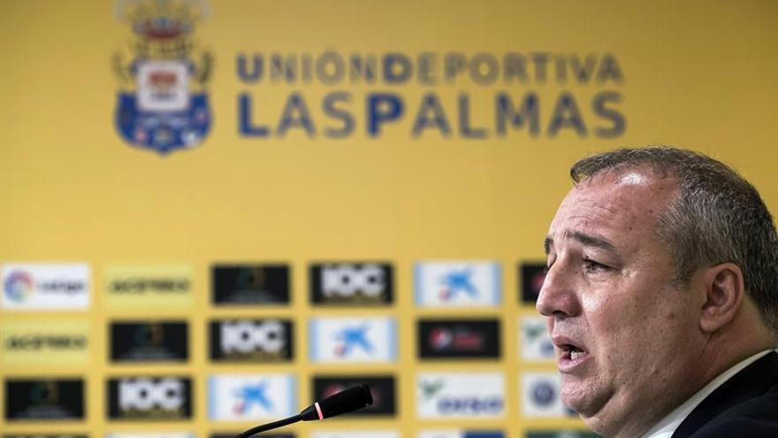 El presidente de la Unión Deportiva Las Palmas, Miguel Ángel Ramírez. EFE/Ángel Medina G