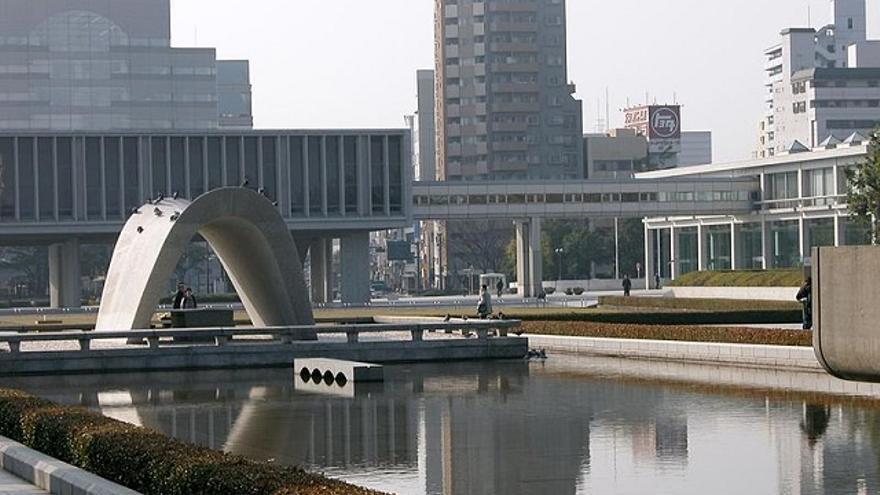 Vista de Hiroshima desde el parque memorial