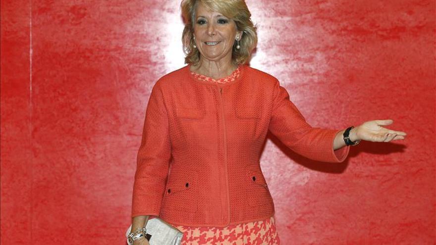 La expresidenta de la Comunidad de Madrid, Esperanza Aguirre. / Efe