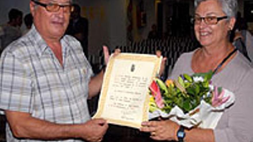 Rafael González Morera y su esposa, Pepa Pérez Riutort.