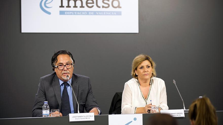 Josep Ramon Tiller y Agustina Brines, cogerentes de Imelsa, en rueda de prensa