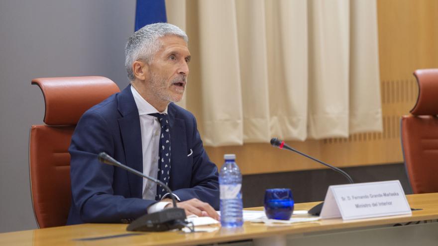 El ministro de Interior, Fernando Grande-Marlaska, en el Congreso