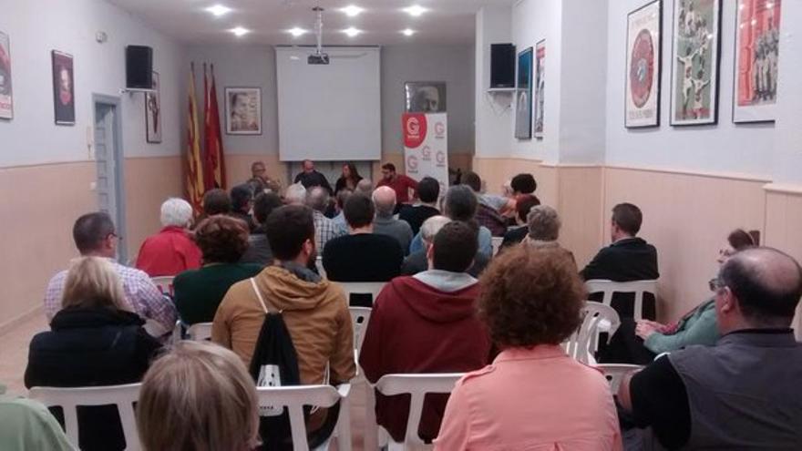 Asamblea de Unitat Popular celebrada este jueves en Alicante.