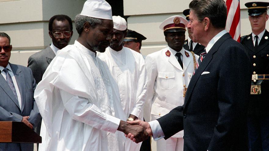 El 19 de junio de 1987, Habré y Reagan se entrevistaron en la Casa Blanca / PImagen cedida por Ronald Reagan Library