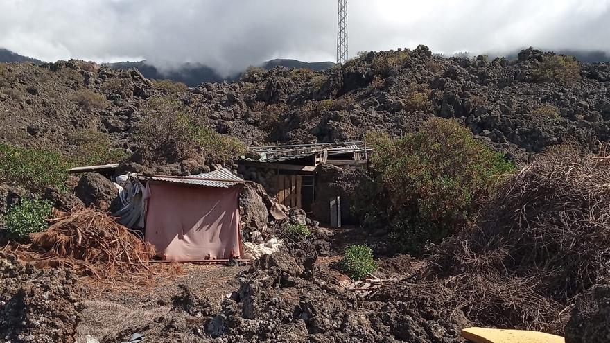 Corral donde fueron localizados las cabras.
