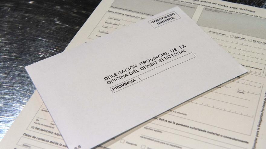 Ejemplo de voto por correo que se puede obtener en Correos.