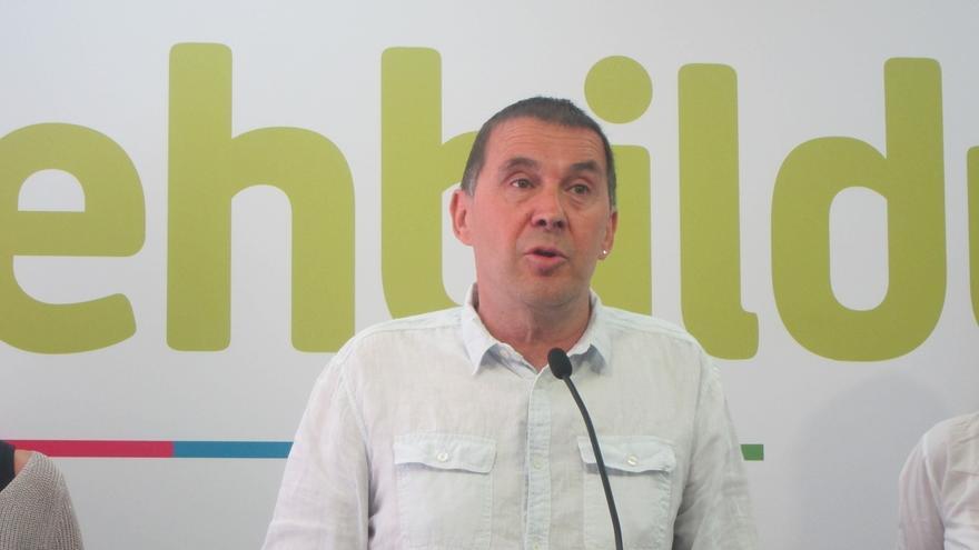 Otegi insiste en que él va a ser el candidato de EH Bildu, decida lo que decida el TC, y hará campaña