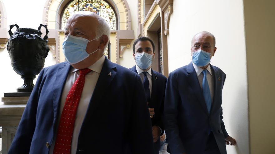 El consejero de Salud, Jesús Aguirre, en un acto en Málaga este viernes.