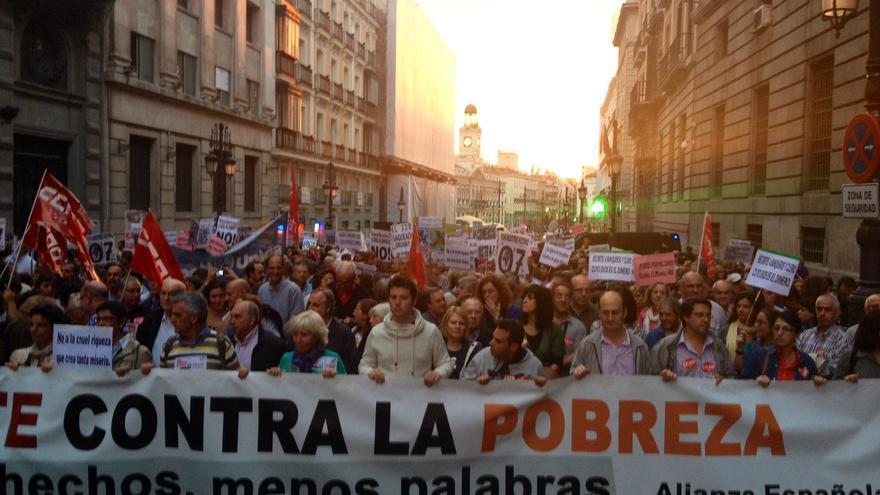 Cabecera de la manifestación en Madrid / Foto: Juan Luis Sánchez